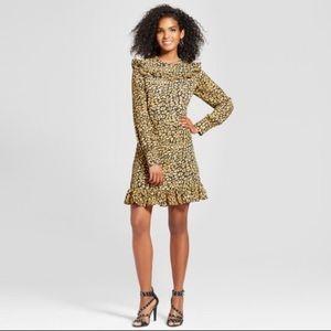 NWT Who What Wear cheetah print ruffle dress sz XL